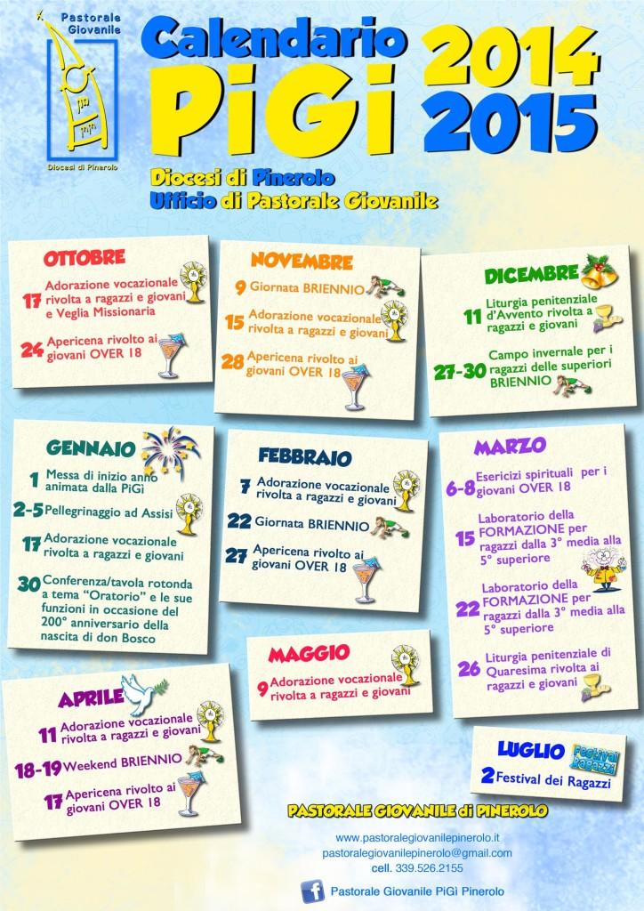Calendario della Pastorale Giovanile 2014-2015