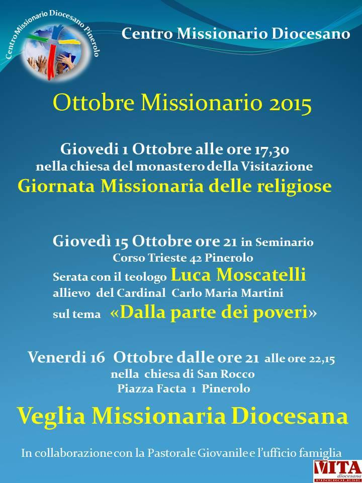 Locandina Veglia Missionaria 2015