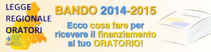 LEGGE ORATORI 2014-2015