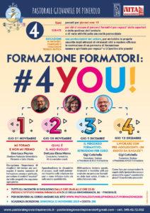 Formazione Formatori #4YOU! - 4 incontri - 21 novembre, 28 novembre, 3 dicembre e 12 dicembre